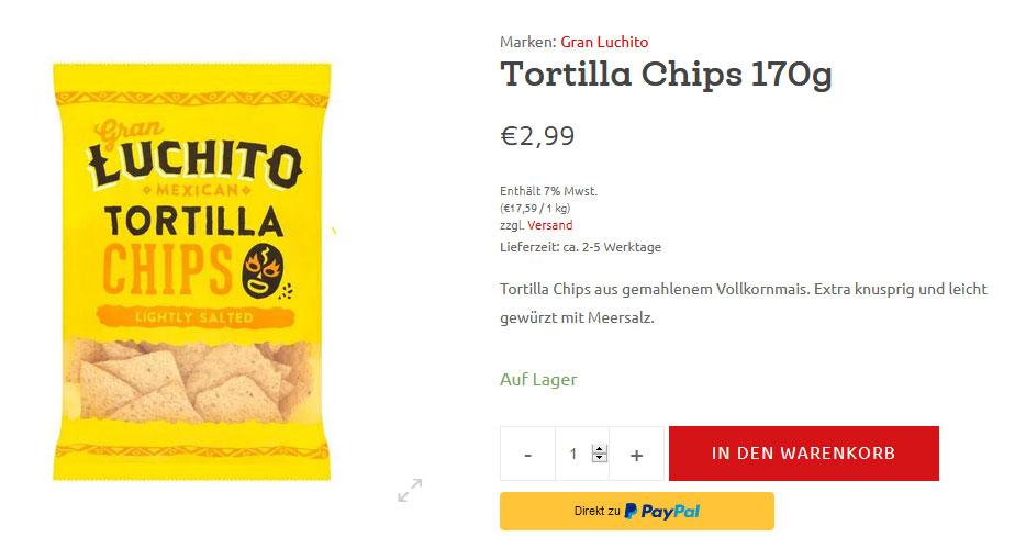 Tortilla Chips und Dips online bestellen